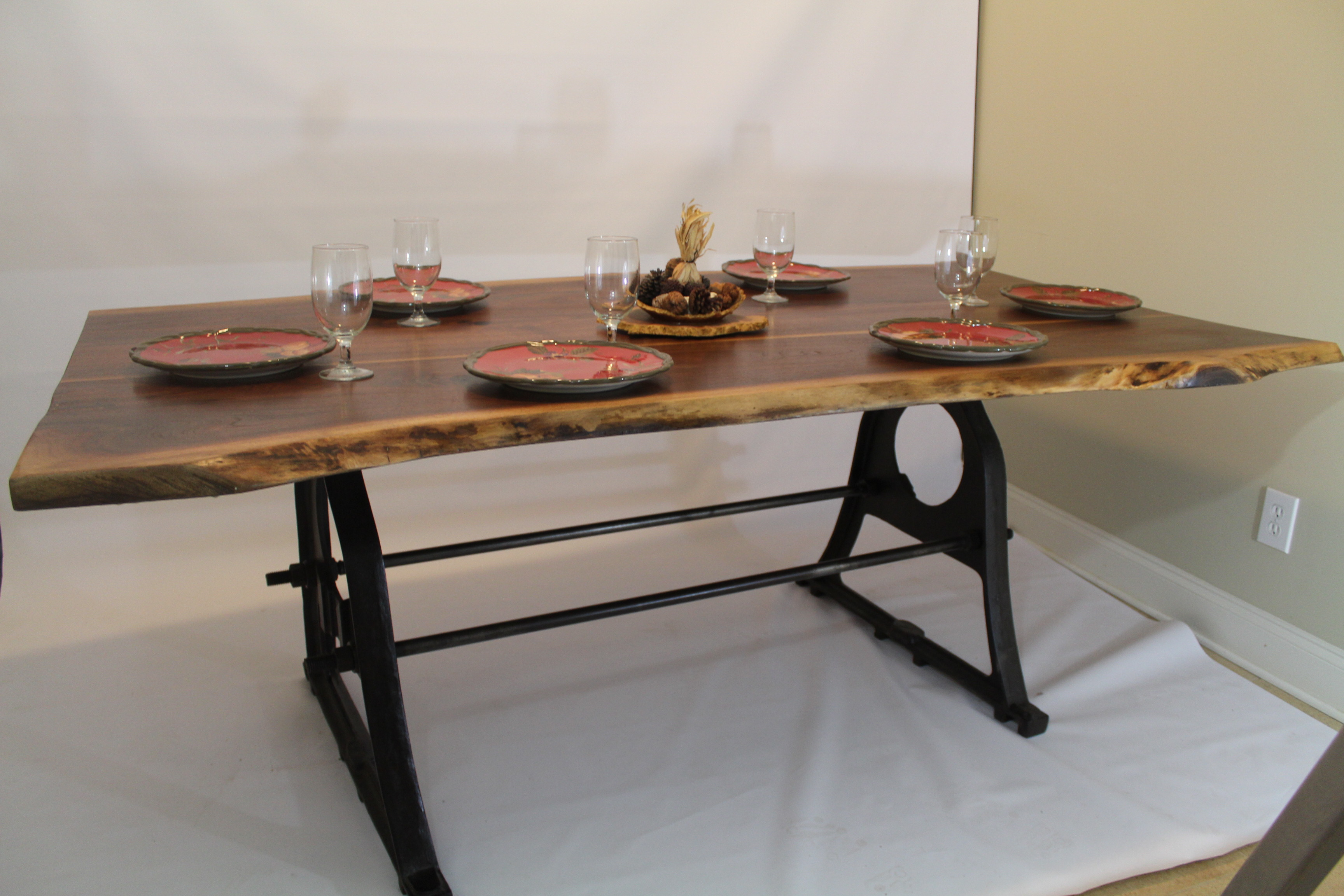 Live Edge Black Walnut Dining Table Ashevillewood Com
