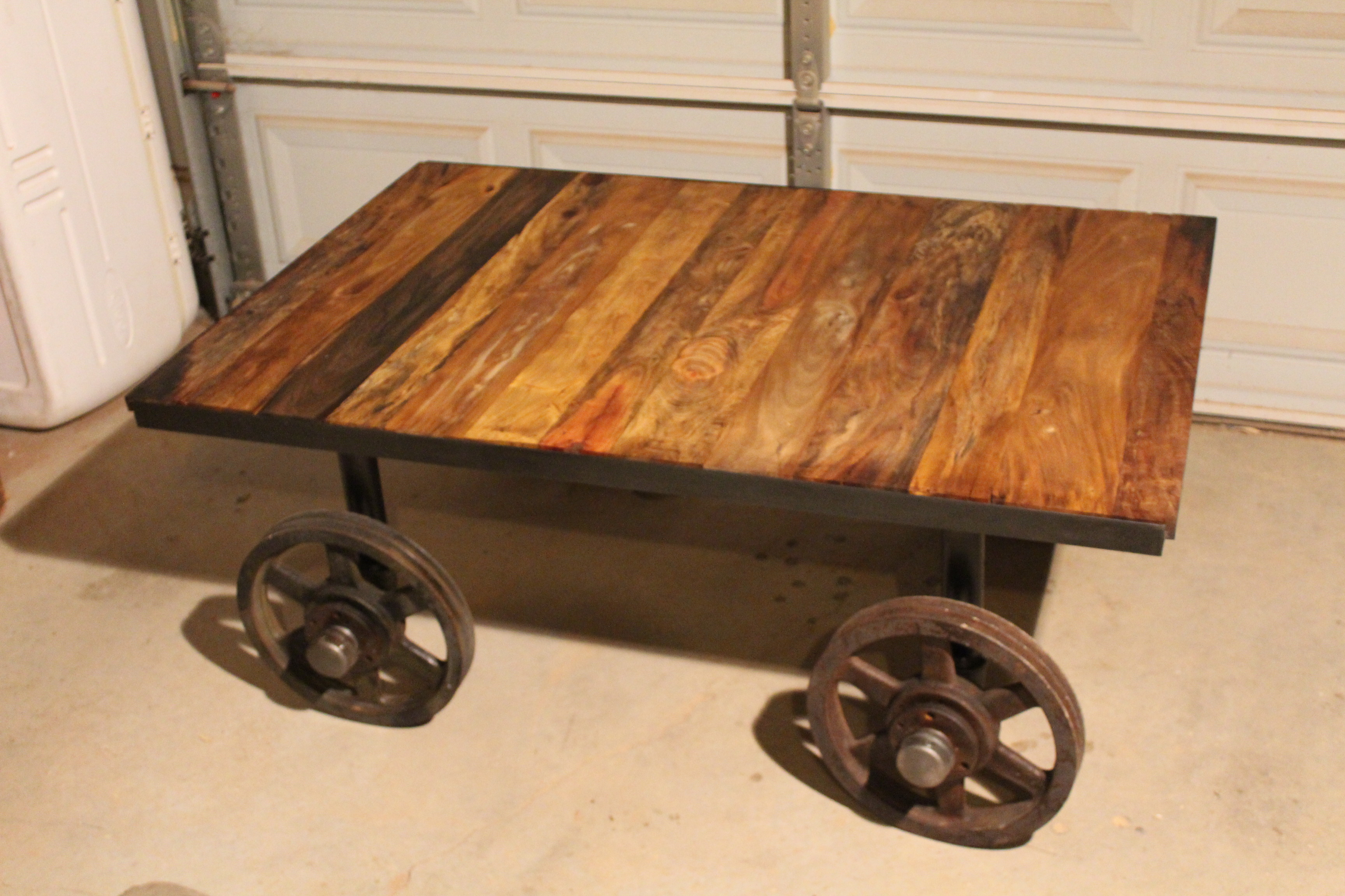 Railroad Car Look Coffee Table