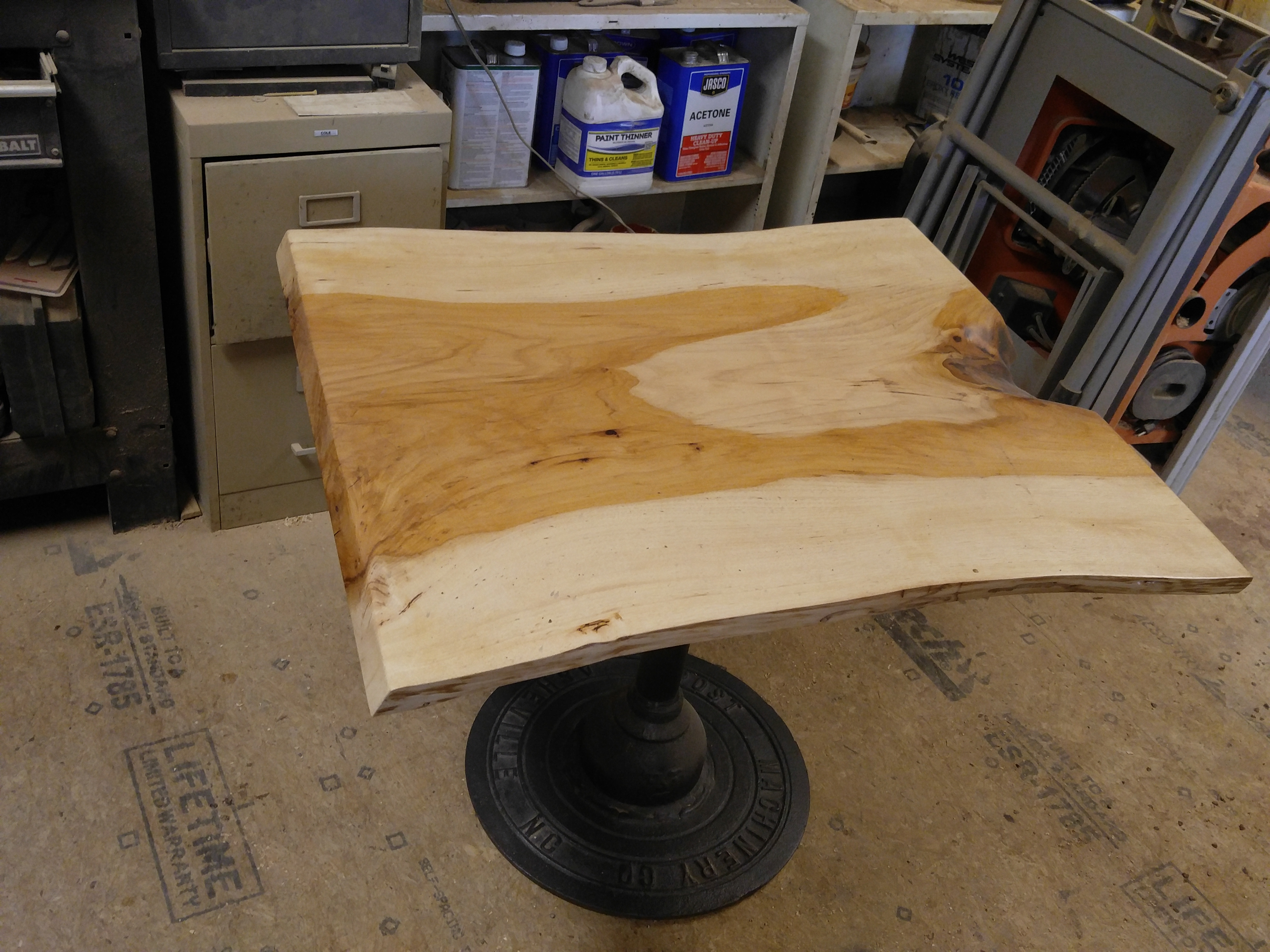 This Table Is Apprx 30×36 And 26u2033 High. Itu0027s Made From A Single Piece Of  Pecan Wood.